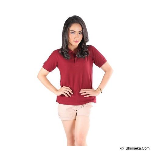NULAR Unisex Premium CVC Polo Shirt Size M - Maroon - Kaos Wanita