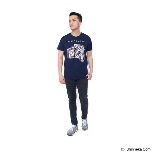 OBLONGKU T Shirt Inside of Me Size L [008-TS.002] - Navy - Kaos Pria