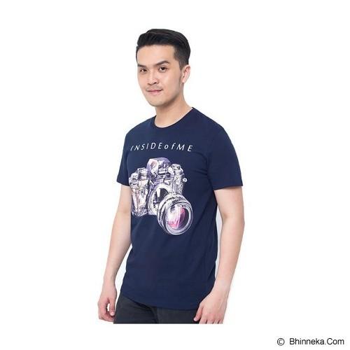 OBLONGKU T Shirt Inside of Me Size XL [008-TS.002] - Navy - Kaos Pria