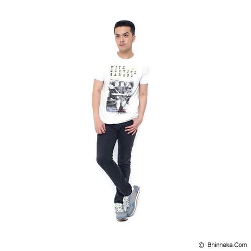 BURGUNDY T Shirt Fisk Service Garage Size L [009-TS.001] - Cream - Kaos Pria