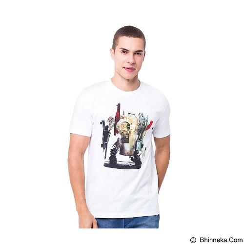OBLONGKU T-Shirt Robot Street Art Size M [008-TS.010] - White - Kaos Pria
