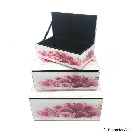 OHOME Box Acrylic Rose Isi 3 Multifungsi Classic [AN-BX0073] (Merchant) - Container