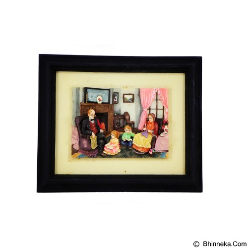 OHOME Decor Happy Family 3D Picture Frame [SP3936] (Merchant) - Wall Art / Hiasan Dinding