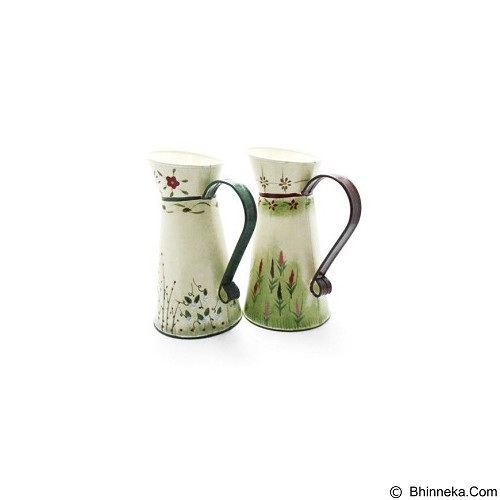 OHOME Decor Vintage Vas Bunga Pot Penyiram [VB0052] - Broken White (Merchant) - Vas Bunga