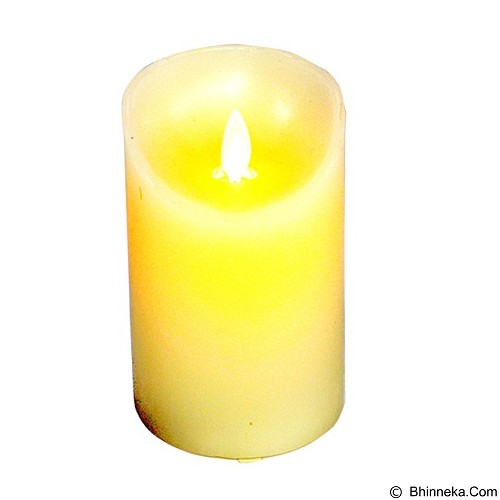 OHOME Lilin Electric Realistic Size M [AN-KU008] - White Yellow Vintage Candle (Merchant) - Lilin & Tempat Lilin