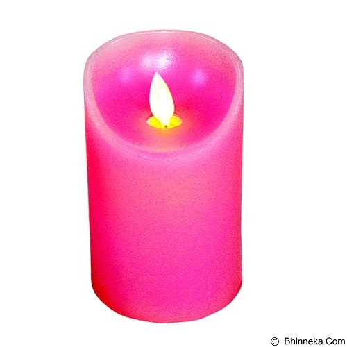 OHOME Lilin Electric Realistic Size M [AN-KU008P] - Pink Vintage Candle (Merchant) - Lilin & Tempat Lilin