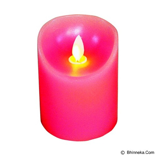 OHOME Lilin Electric Realistic Size S [AN-KU008P] - Pink Vintage Candle (Merchant) - Lilin & Tempat Lilin