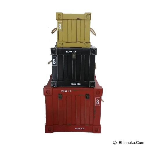 OHOME Peti Kemas Persegi Isi 3 Dekorasi Unik Antik Multifungsi [AN-BX0068] (Merchant) - Container