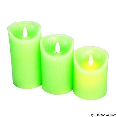 OHOME Set Lilin Electric Realistic [AN-KU008G SET] - Green Classic Vintage Candle (Merchant) - Lilin & Tempat Lilin