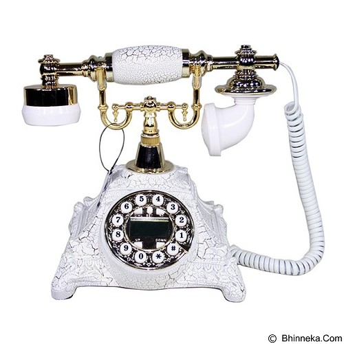 OHOME Telephone Batu Antik Vintage Classic [AN-T053B] - White (Merchant) - Corded Phone