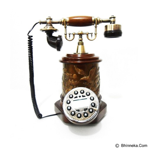 OHOME Telepon Antik Classic Dekor Rumah [AN-T081] - Brown (Merchant) - Corded Phone