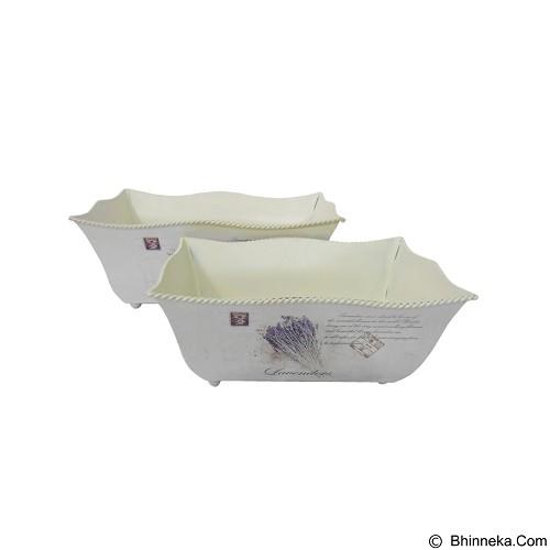OHOME Vas Bunga Panjang Motif Lavender [AN-VB0198] (Merchant) - Vas Bunga