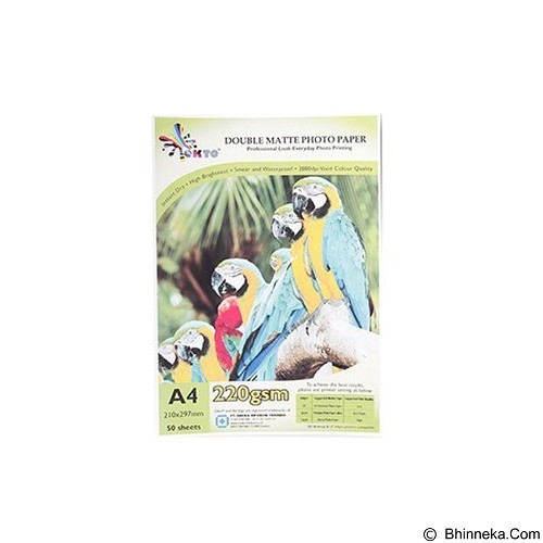 OKTO Digital Photo Paper Double Matte Inkjet 220gsm [CWMM-D 220] - Kertas Foto / Photo Paper