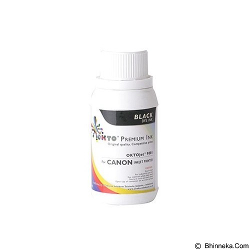 OKTO Refill Black Ink Dye Premium for Canon [9001K-100] - Tinta Printer Refill