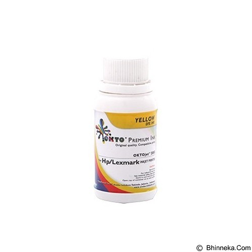OKTO Refill Yellow Ink Dye Premium for HP [2002Y-100] - Tinta Printer Refill