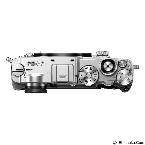 OLYMPUS PEN-F Mirrorless Micro Four Thirds Digital Camera Body Only - Silver - Camera Mirrorless