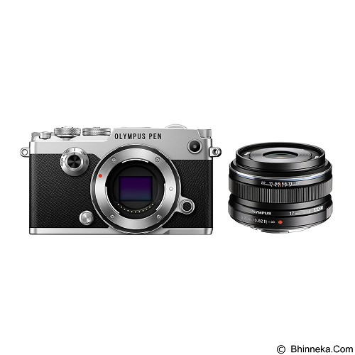 OLYMPUS PEN-F Mirrorless Micro Four Thirds Digital Camera Kit - Silver - Camera Mirrorless