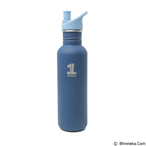 ONE LESS Botol Minum 1L - Blue - Sport Water Bottle / Botol Minum