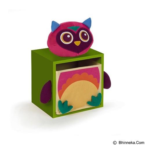 OOPS Lemari Laci Penyimpanan 1 Susun Owl Mr.Woo [OP70003.12] - Green - Nursery Furniture & Decor