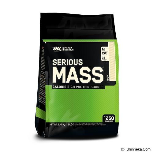 OPTIMUM NUTRITION On Serious Mass 12 LB - Vanila - Suplement Peningkat Metabolisme Tubuh