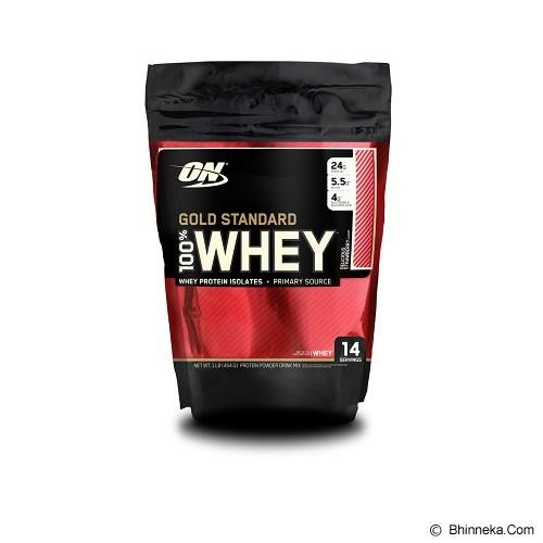 OPTIMUM NUTRITION On Whey GS 1 LB Pouch - Strawberry - Suplement Peningkat Metabolisme Tubuh