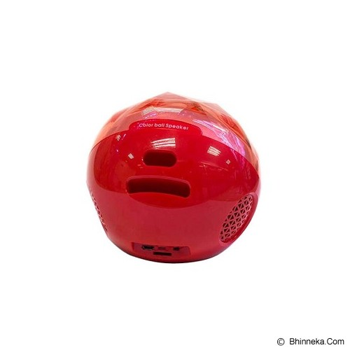 OPTIMUZ Portabel Bluetooth Color Ball - Red - Speaker Bluetooth & Wireless