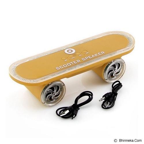 OPTIMUZ Portabel Bluetooth LED Light Scooter - Gold - Speaker Bluetooth & Wireless