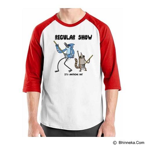ORDINAL Raglan Regular Show 15 Size ML (Merchant) - Kaos Pria