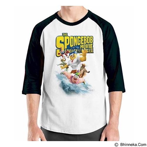 ORDINAL Raglan Spongebob Movie 01 Size XL (Merchant) - Kaos Pria
