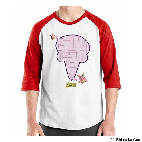 ORDINAL Raglan Spongebob Movie 06 Size M (Merchant) - Kaos Pria