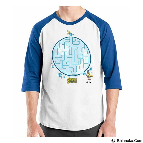 ORDINAL Raglan Spongebob Movie 07 Size XXL (Merchant) - Kaos Pria