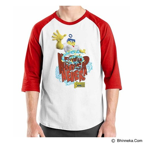 ORDINAL Raglan Spongebob Movie 08 Size L (Merchant) - Kaos Pria