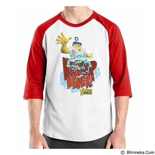 ORDINAL Raglan Spongebob Movie 08 Size XXL (Merchant) - Kaos Pria