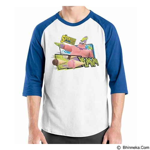 ORDINAL Raglan Spongebob Movie 09 Size XL (Merchant) - Kaos Pria