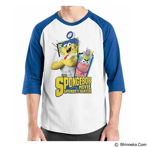 ORDINAL Raglan Spongebob Movie 10 Size L (Merchant) - Kaos Pria