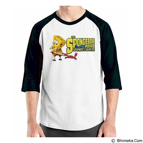 ORDINAL Raglan Spongebob Movie 11 Size L (Merchant) - Kaos Pria