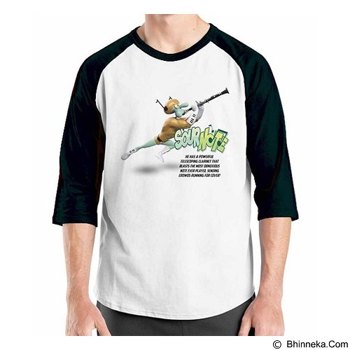 ORDINAL Raglan Spongebob Movie 15 Size XL (Merchant) - Kaos Pria