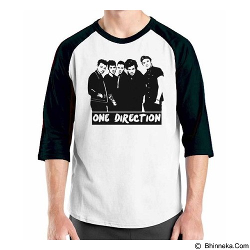 ORDINAL Raglan One Direction Tour 07 Size M (Merchant) - Kaos Pria