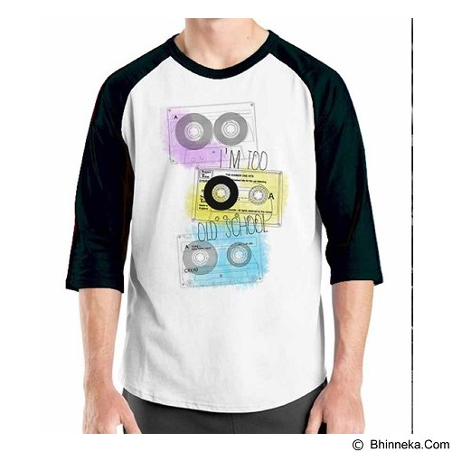 ORDINAL Raglan Old School 03 Size L (Merchant) - Kaos Pria