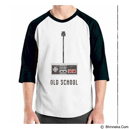 ORDINAL Raglan Old School 07 Size M (Merchant) - Kaos Pria