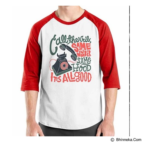 ORDINAL Raglan Old School 15 Size M (Merchant) - Kaos Pria