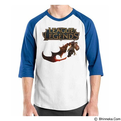 ORDINAL Raglan League Of Legends 07 Size XXL (Merchant) - Kaos Pria
