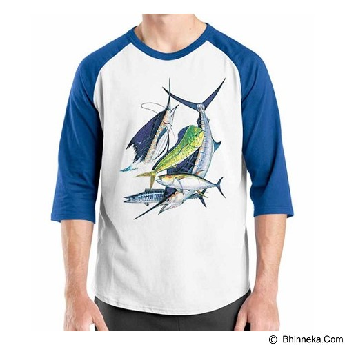 ORDINAL Raglan Fishing 11 Size M (Merchant) - Kaos Pria