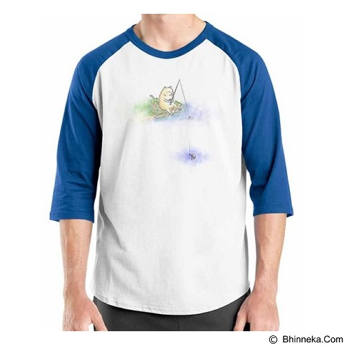 ORDINAL Raglan Fishing Cat Size XXL (Merchant) - Kaos Pria