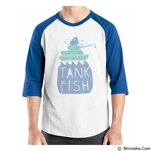 ORDINAL Raglan Fishing Tank Fish Size XL (Merchant) - Kaos Pria