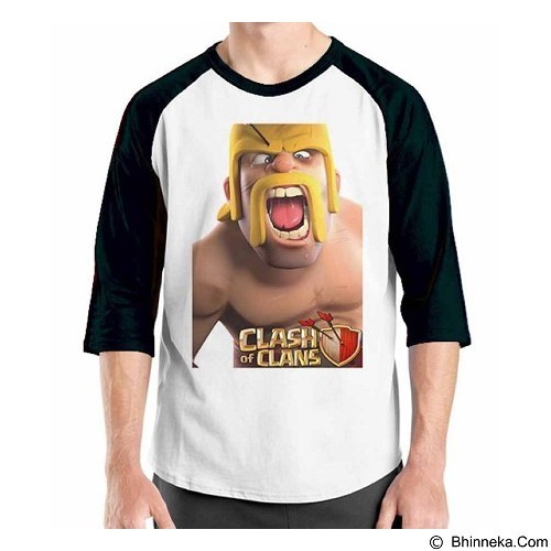 ORDINAL Raglan COC Game 01 Size XL (Merchant) - Kaos Pria