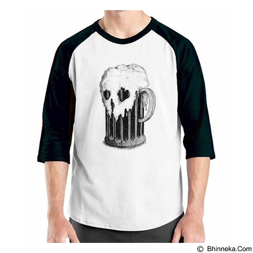 ORDINAL Raglan Beer Holic 12 Size ML (Merchant) - Kaos Pria