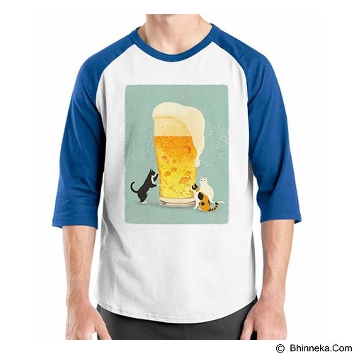 ORDINAL Raglan Beer Holic 16 Size XL (Merchant) - Kaos Pria
