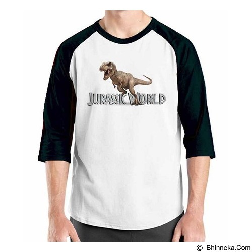 ORDINAL Raglan Jurassic World 05 Size XL (Merchant) - Kaos Pria