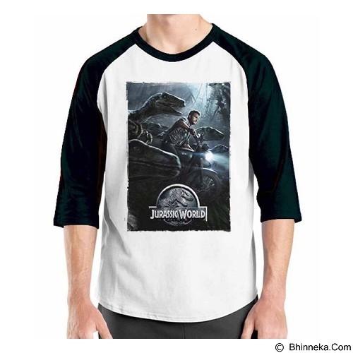ORDINAL Raglan Jurassic World 08 Size XL (Merchant) - Kaos Pria